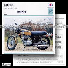 #072.13 TRIUMPH 650 BONNEVILLE T120 R 1972 Fiche Moto Motorcycle Card
