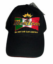 "NEW "" MEXICAN EL RAY DE LAS CERVEZAS "" THE BEER KING HAT ADJUSTABLE VELCRO"