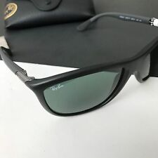 Ray Ban RB8351 6220/71 Black Rectangular Caravan Men's Sunglasses Italy NWT