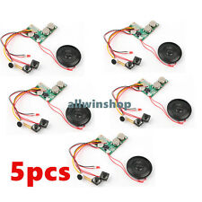 5x Recordable Voice Module 120s for Greeting Card Music Sound Talk chip musical