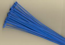 """100 8"""" Inch Long 40# Pound BLUE Nylon Cable Zip Ties Ty Wraps MADE IN THE USA"""