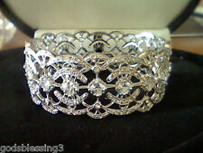LCS DIAMOND TENNIS WEDDING BRACELET  FITS  sz 6 INCH, sz 7 INCH ,  sz 8 INCH