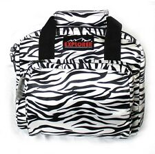 "11""  Ladies Zebra Padded Range Bag Pistol Hand Gun Soft Case Lockable Woman's"