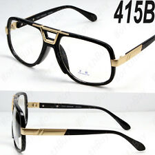 Black Gold DMC Square Gazelle Style Clear Lens Frame Glasses Fashion Designer 5b