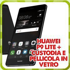 Huawei P9 lite 16G NERO4G DUAL SIM + Custodia e Pellicola in vetro OMAGGIO