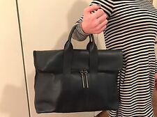 3.1 Philip Lim 31 Hour Leather Tote - Navy