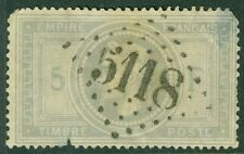 FRANCE : 1869. Scott #37 Used. Small faults with tiny nick at bottom. Cat $825.