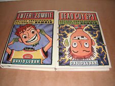 Nathan Abercrombie, Accidental Zombie Books Lot  Set  David Lubar Hardcover NEW