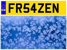 FR54 ZEN FROZEN CHILLED FOOD DELIVERY LORRY FROSTY COLD PRIVATE NUMBER PLATE VAN