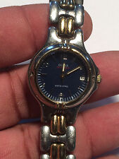 Nice Ladies Blue Face Guess WaterPro Analog Watch With Date Feature