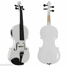High Quality white colors electric & acoustic violin 4/4 #7771