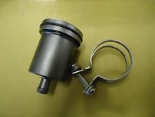 BILLET Aluminium GREY  Brake Clutch Reservoir Pot - Streetfighter Cafe Racer