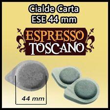 100 caffè ESPRESSO TOSCANO filtro carta ESE 44 per tutte le macchine a cialde