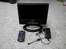 "Supersonic 9"" Portable Rechargeable LCD Color Digital TV W/Remote & AC Adapter"