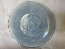 Original Vintage Lalique Mermaid Mermaids Siren Sirens Blue Glass Plate