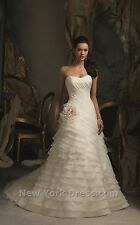 BNWT MORI LEE WEDDING GOWN DRESS STYLE 5105 SIZE 14 IN WHITE *RETAIL $850*