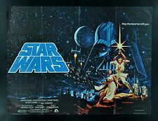STAR WARS * BRITISH QUAD CineMasterpieces ORIGINAL MOVIE POSTER 1977 HILDEBRANDT