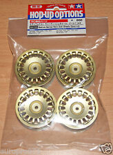 Tamiya 84155 Medium-Narrow Rally Dish Wheels (Gold/±0) (TA06/TB03/TB04), NIP