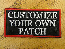 Custom Embroidery Personalized Patch Biker Embroidered Funny Sayings Outlaw MC