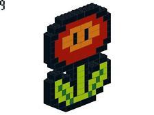 Lego Custom Fire Plant Nintendo Pixelated Mosaic Super Mario Bros Brothers NES