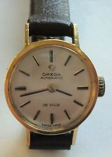 VINTAGE SUPERB 1960'S LADIES OMEGA DE VILLE AUTOMATIC GOLD PLATED WRIST WATCH