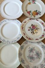 Job lot of 6 Vintage Mismatched Dinner Plates-Ideal for Tea Parties