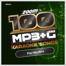 Zoom Karaoke 100 MP3+G Tracks Vol 13 - Hits Of 2014 PC DVD-ROM MP3G
