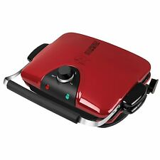 George Foreman GRP90WGR Electric Nonstick Grill with 5 Removable Plates, Red