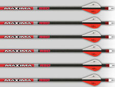 "Carbon Express Maxima Red 350 Arrows Factory Fletched w/ 2""  Blazer Vanes 6 Pack"