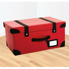 RETRO SUITCASE STORAGE BOX TRUNK - RED