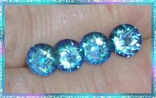Cassiopeia Mystic Topaz - 7mm Round Checkerbrd Cut - Matched Set of 4 - 6.60 ctw