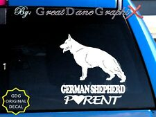 German Shepherd PARENT(S) #2 - Vinyl Decal Sticker / Color Choice - HIGH QUALITY