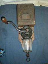 "OLD ARCADE "" GOLDEN RULE BLEND COFFEE "" Advertising Wall Mount Grinder"