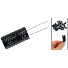 20 Pcs 1000uF 50V 13x25mm Aluminum Electrolytic Capacitors Black LW