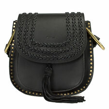 NEW and AUTHENTIC Chloe Hudson Calfskin Shoulder Bag | Black with Gold Hardware