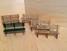 PACK OF FIVE PLATFORM BENCH SEATS IN KIT. FOR GARDEN RAILWAYS 16MM SCALE