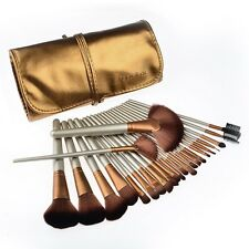 Makeup Cosmetic Brushes Set 24pcs High Quality Kit -w/ Case Bag Travel Eyeshadow