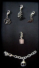 "Charm Bracelet The Nightmare Before Christmas Enamel  7"" Lobster Claw Metal"