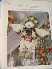 GRETTA GHOST Halloween cloth art ghost doll, fun 1999 pattern from magazine