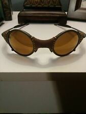 Rare Oakley Mars Leather Sunglasses - Gold X Metal - Fight Club Michael Jordan