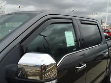 In-Channel 4 piece Vent Visors for a GMC Sierra 2500/3500 Ext. Cab 2007 - 2015
