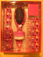 Brush And Comb Hair Decoration Set 13 Pieces Multicolored New