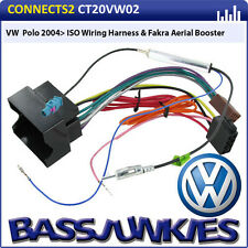 VW Volkswagen Polo 2004  Radio Stereo Wiring Harness Adapter ISO Aerial Fakra