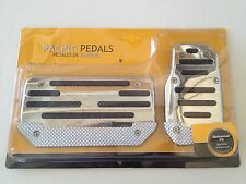 Toyota Non-Slip Metal Finish Chrome Plated Gas/Brake Cover Foot Pedals Pads A/T