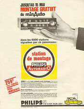 Publicité Advertising 1966  PHILIPS Autoradio minAuto Station de Montage