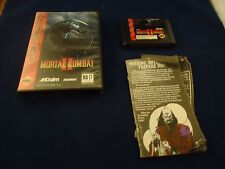Mortal Kombat II (Sega Genesis, 1994) Near Complete w/ Box game WORKS! #E1