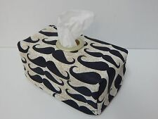 Large Moustaches Tissue Box Cover With Circle Opening - Lovely Gift Idea