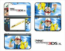 SKIN STICKER AUTOCOLLANT - NINTENDO NEW 3DS XL - REF 102 POKEMON