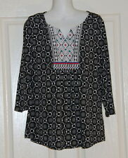 Womens size M (14) cute boho stretchy top made by ROCKMANS