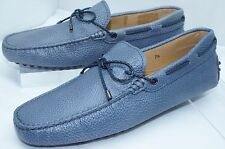 Tod's Men's Blue Shoes Woven Lace Loafers Size 9.5 Slip Ons Drivers Leather NIB